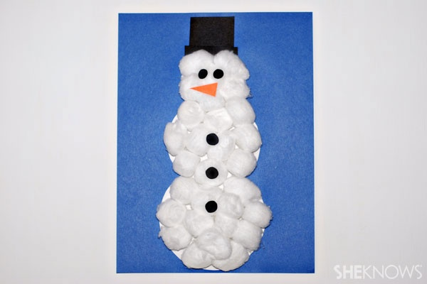 cotton ball snowman craft ideas for growing chefs 1362